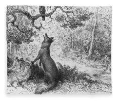 The Crow And The Fox Fleece Blanket