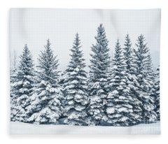 The Crown Of Winter Fleece Blanket
