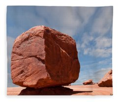 The Cube At Monument Valley Fleece Blanket
