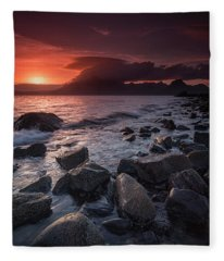 The Cuillin From Elgol II Fleece Blanket