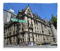 The Dakota Apartments- One West 72nd Street At Cpw Built 1884 Fleece Blanket