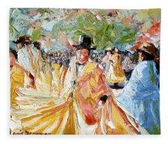The Dance At La Paz Fleece Blanket