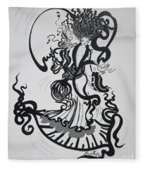 Dazzling Dancer  With The Muse   Fleece Blanket