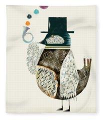 The Dapper Bird Fleece Blanket