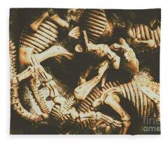 The Dark Dinosaur Abstract Fleece Blanket