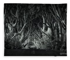 The Dark Hedges Fleece Blanket