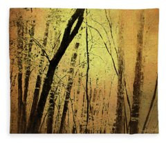 The Dawn Of The Trees Fleece Blanket