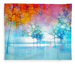 The Departing Trees Fleece Blanket