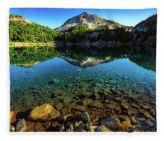 The Depths Of Lake Helen Fleece Blanket