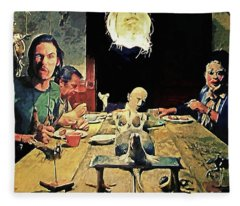The Dinner Scene - Texas Chainsaw Fleece Blanket