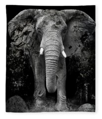 The Disappearance Of The Elephant Fleece Blanket