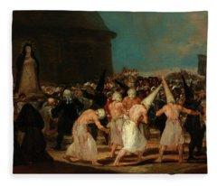 A Procession Of Flagellants Fleece Blanket