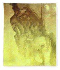 The Dog Howls Man. Fleece Blanket