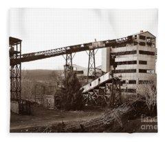The Dorrance Coal Breaker Wilkes Barre Pennsylvania 1983 Fleece Blanket