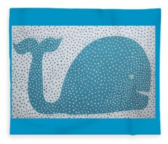 The Dotted Whale Fleece Blanket