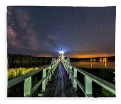 The Doubling Point Lighthouse Fleece Blanket