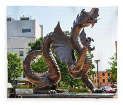 The Dragon - Drexel University Fleece Blanket