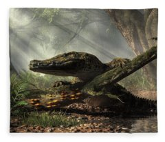 The Dragon Of Brno Fleece Blanket
