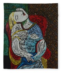 The Dream Walker -le Reve Zombi  Fleece Blanket