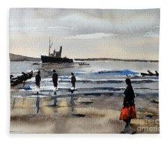 The Dun Aengus Off Aran, Galway Fleece Blanket