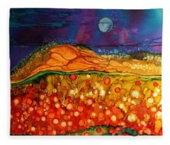The Dunes At Night Fleece Blanket