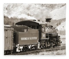 The Durango And Silverton Into The Mountains Fleece Blanket
