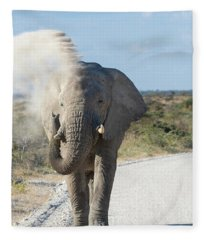 The Dust Bath - Namibia, Africa Fleece Blanket