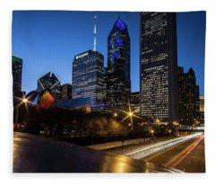 The East Side Skyline Of Chicago  Fleece Blanket