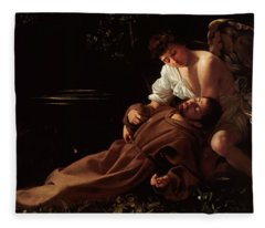 The Ecstacy Of Saint Francis Of Assisi Fleece Blanket