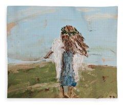 The Edge Of The Field Fleece Blanket