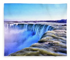 The Edge Of The World Fleece Blanket