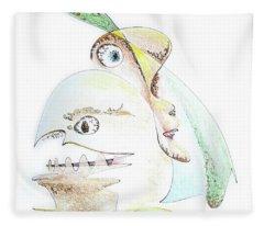 The Egg And I Fleece Blanket