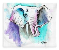 The Elephant King Fleece Blanket