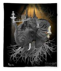 The Elephant Kingdom Fleece Blanket