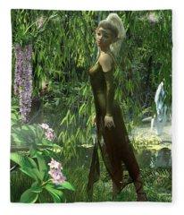The Elven Realm Fleece Blanket