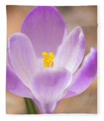 The Embrace - Spring Crocus Flower Fleece Blanket
