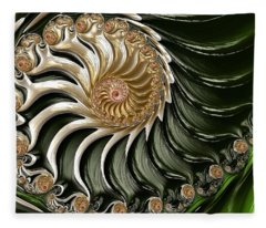 The Emerald Queen's Nautilus Fleece Blanket