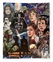 The Empire Strikes Back Fleece Blanket