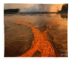 The Enchantment Of Grand Prismatic Spring Fleece Blanket