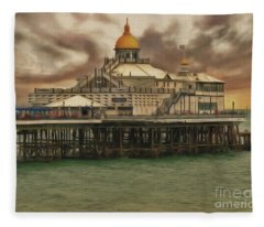 The End Of The Pier Show Fleece Blanket