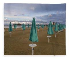 The End Of The Season In Rimini Fleece Blanket