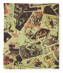 The English Postage Scene Fleece Blanket