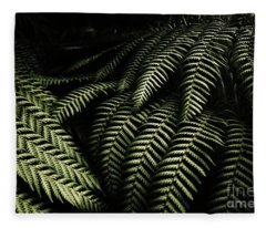 The Exotic Dark Jungle Fleece Blanket