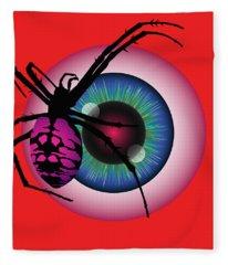 The Eye Of Fear Fleece Blanket