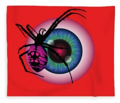 The Eye Of Fear Fleece Blanket