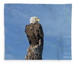 The Eye Of Freedom Fleece Blanket