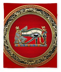 The Eye Of Horus Fleece Blanket