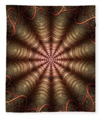 The Fabric Of The Space-time Continuum Fleece Blanket