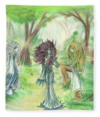 The Fae - Sylvan Creatures Of The Forest Fleece Blanket