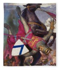 The Fall Of William The Conqueror Fleece Blanket